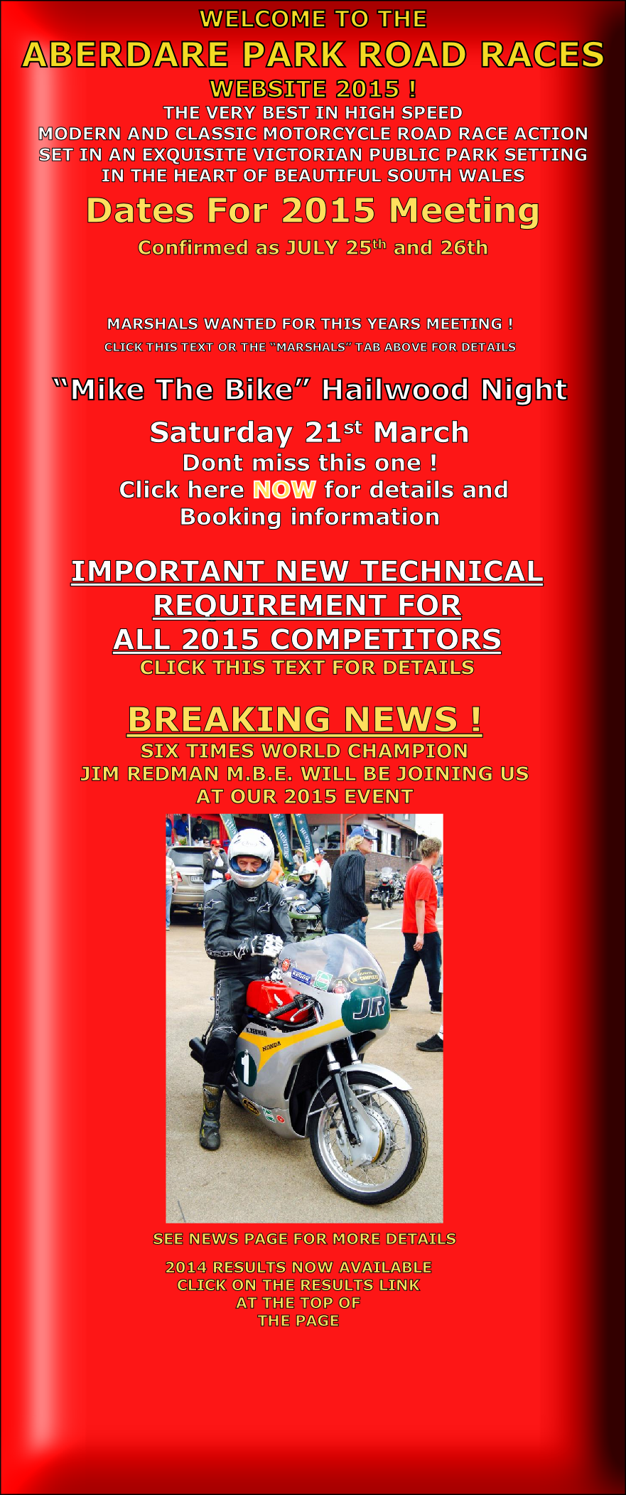 MARSHALS WANTED FOR THIS YEARS MEETING !